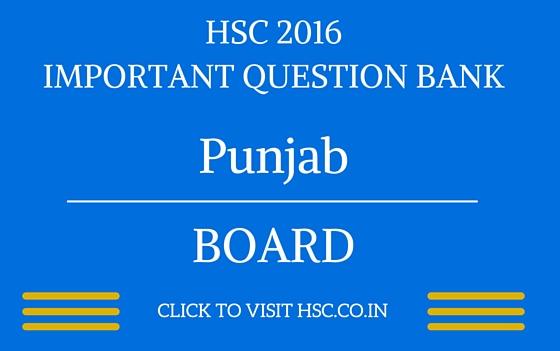 Punjab HSC 2016 IMPORTANT QUESTION BANK