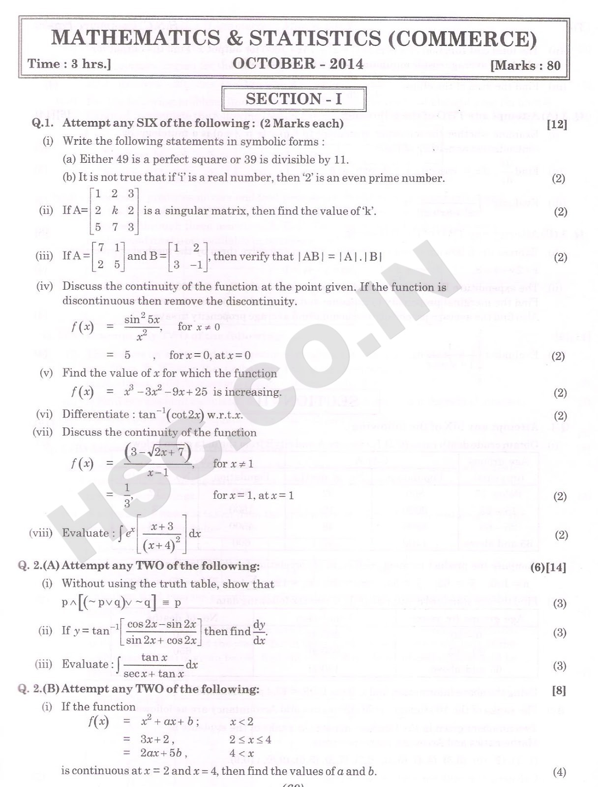 maths comer hsc oct 2014 1