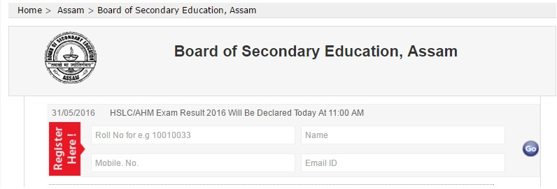 Assam result 2016