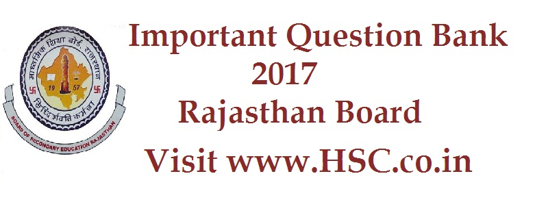 English – Important Question Bank for Rajasthan class 12th