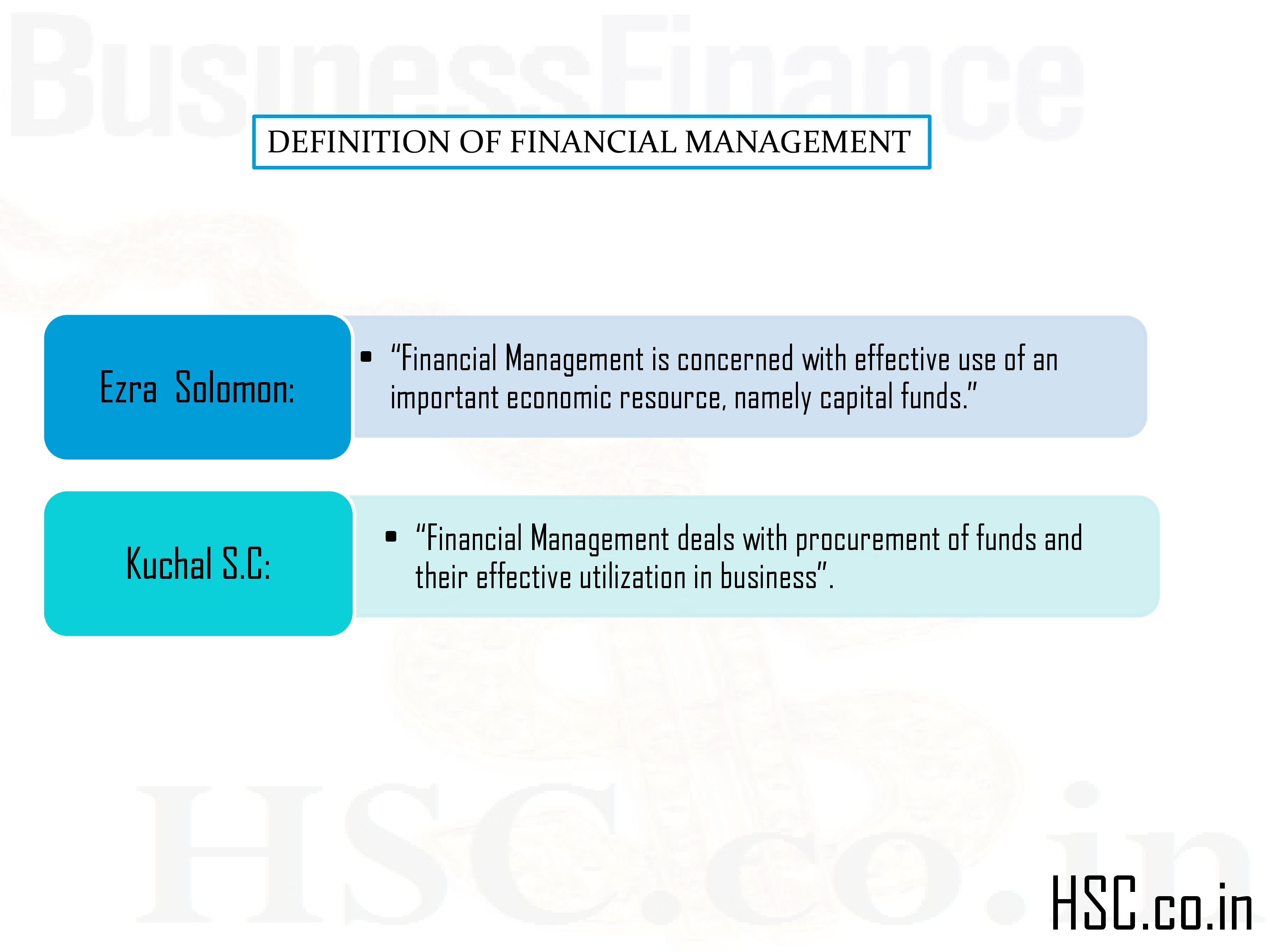 definition of finance management