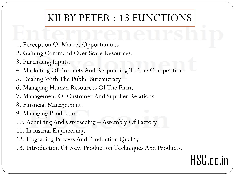 KILBY PETER : 13 FUNCTIONS