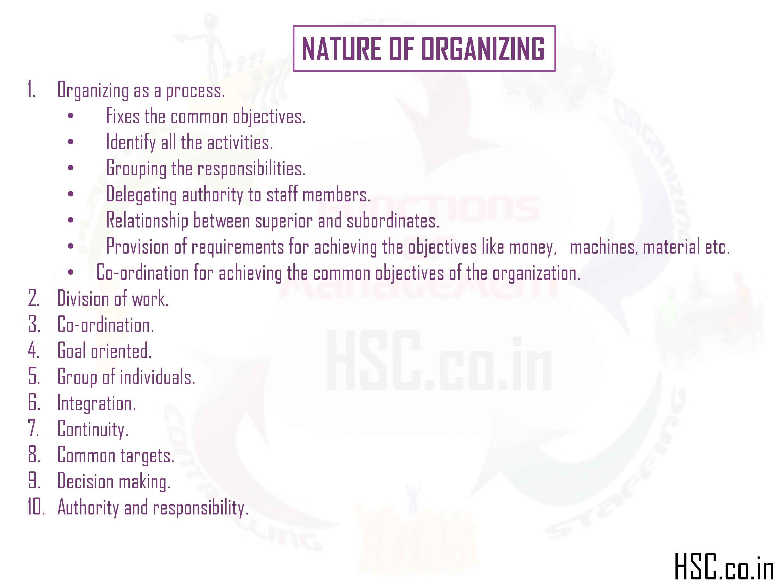 nature of organization