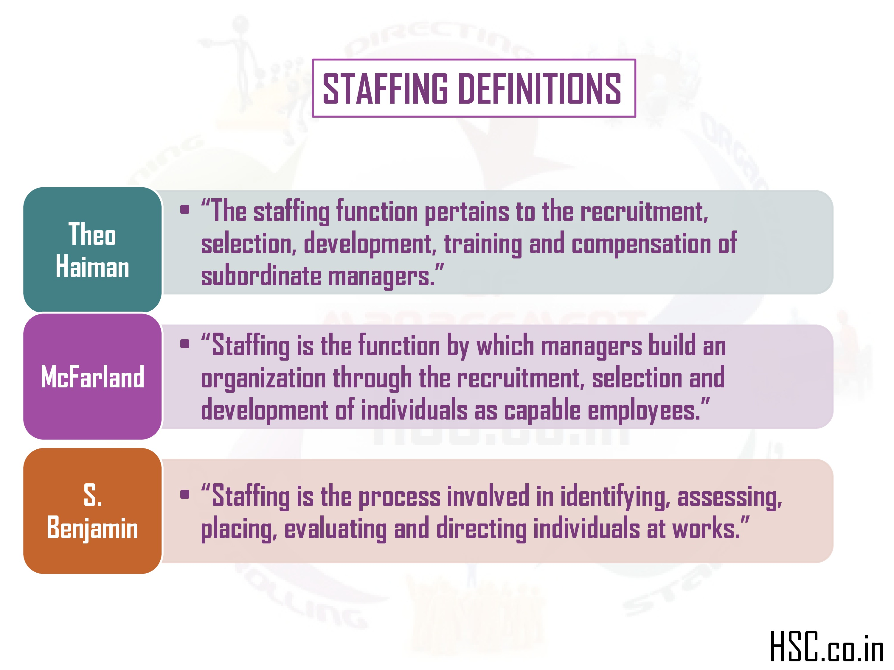 staffing definitions