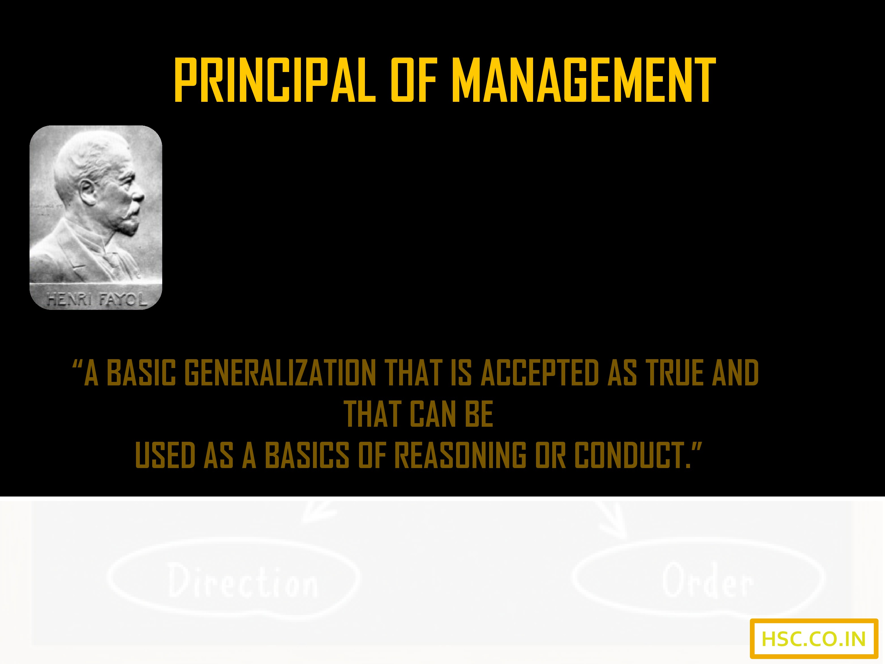 definition of principal of management