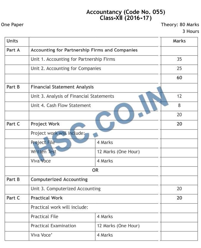 accountancy mark distribution