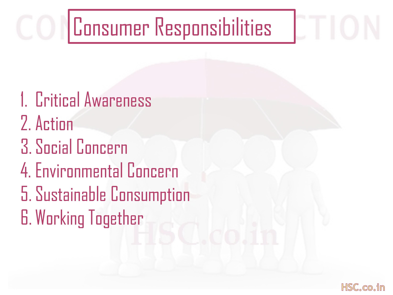 consumer responsibility
