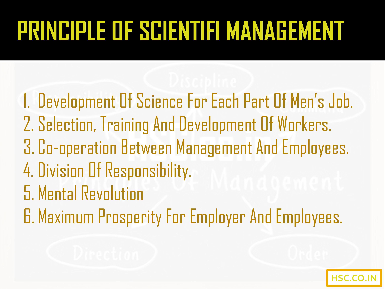 principle of scientific management