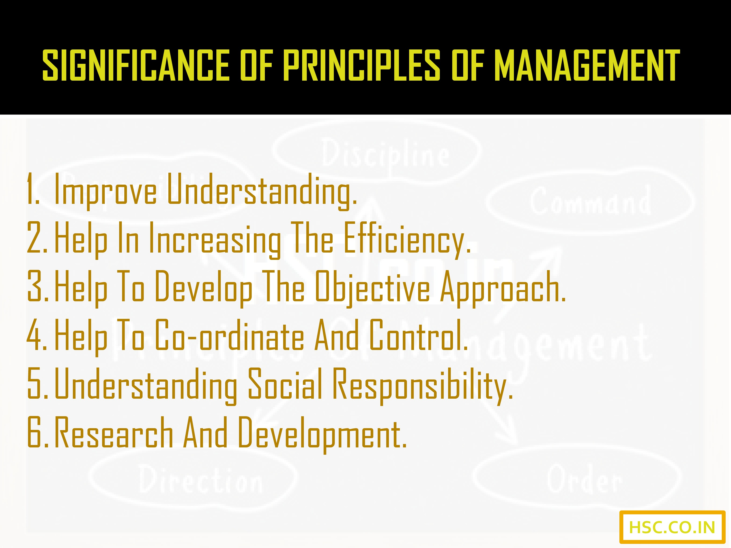 significance of principal of management