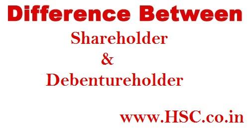debenture holder &Shareholder