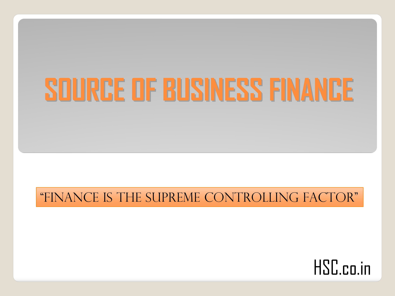 source of busines finance (1)