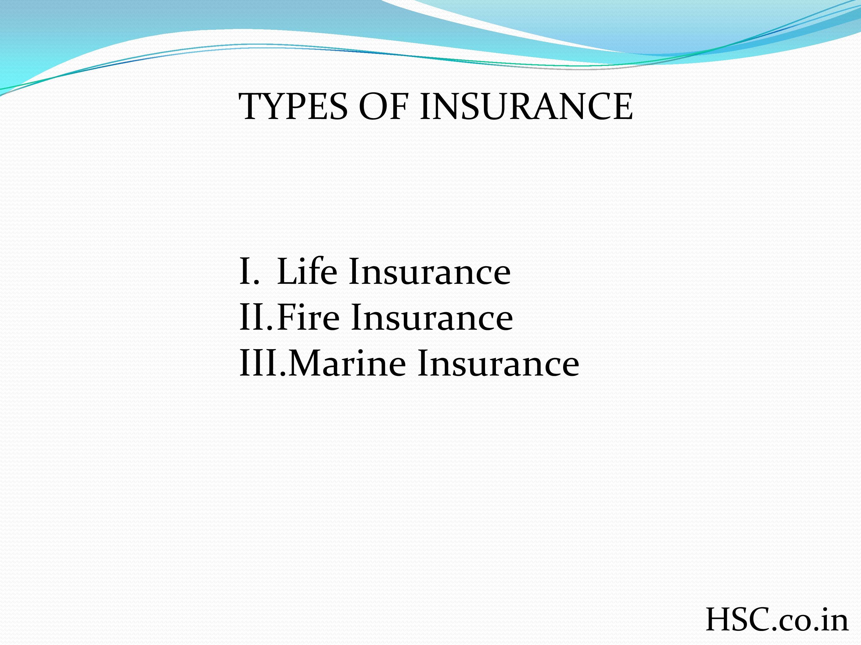 types of inusrance