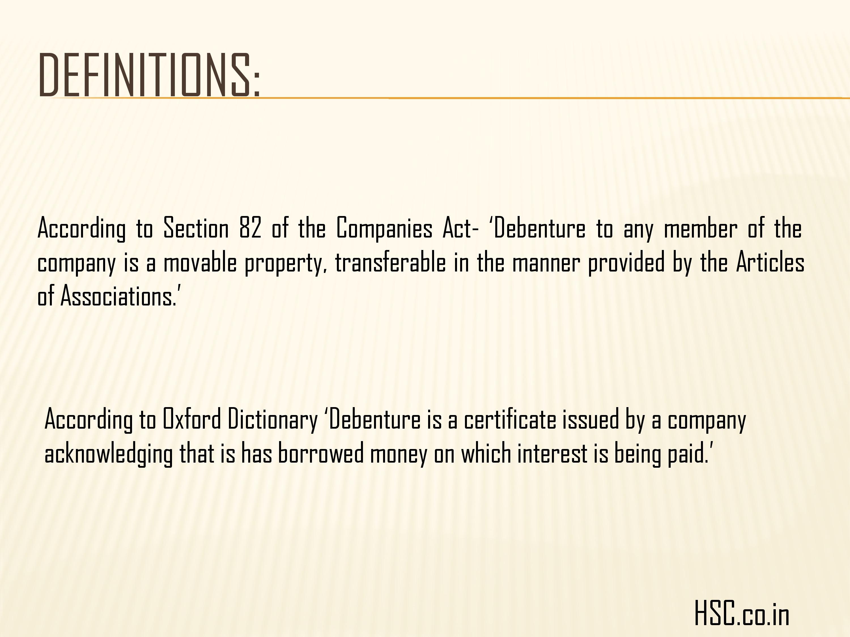 definition of debenture
