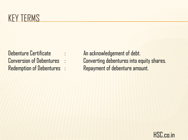 issue of debenture -10
