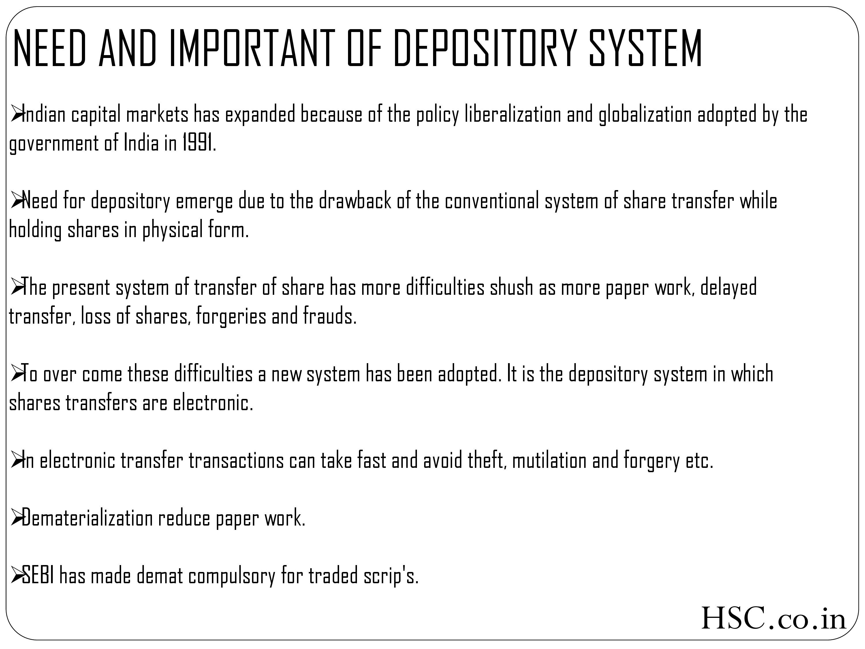DEPOSITORY AND DEMATERIALIZATION-2