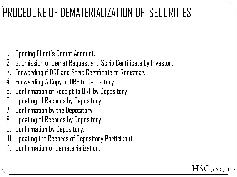 Procedure of dematerialisation-2