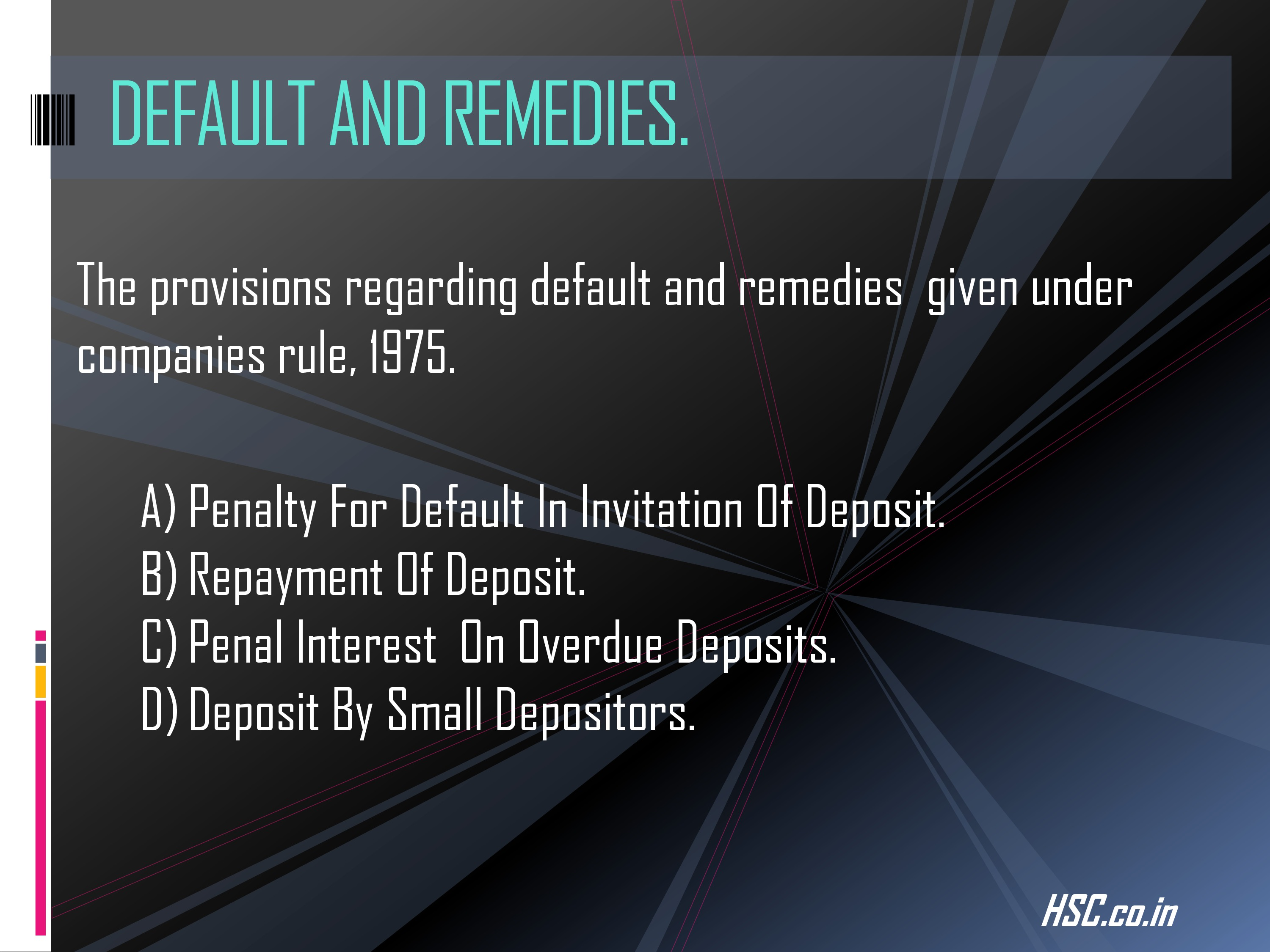 deposits-4 s.p study notes for hsc board