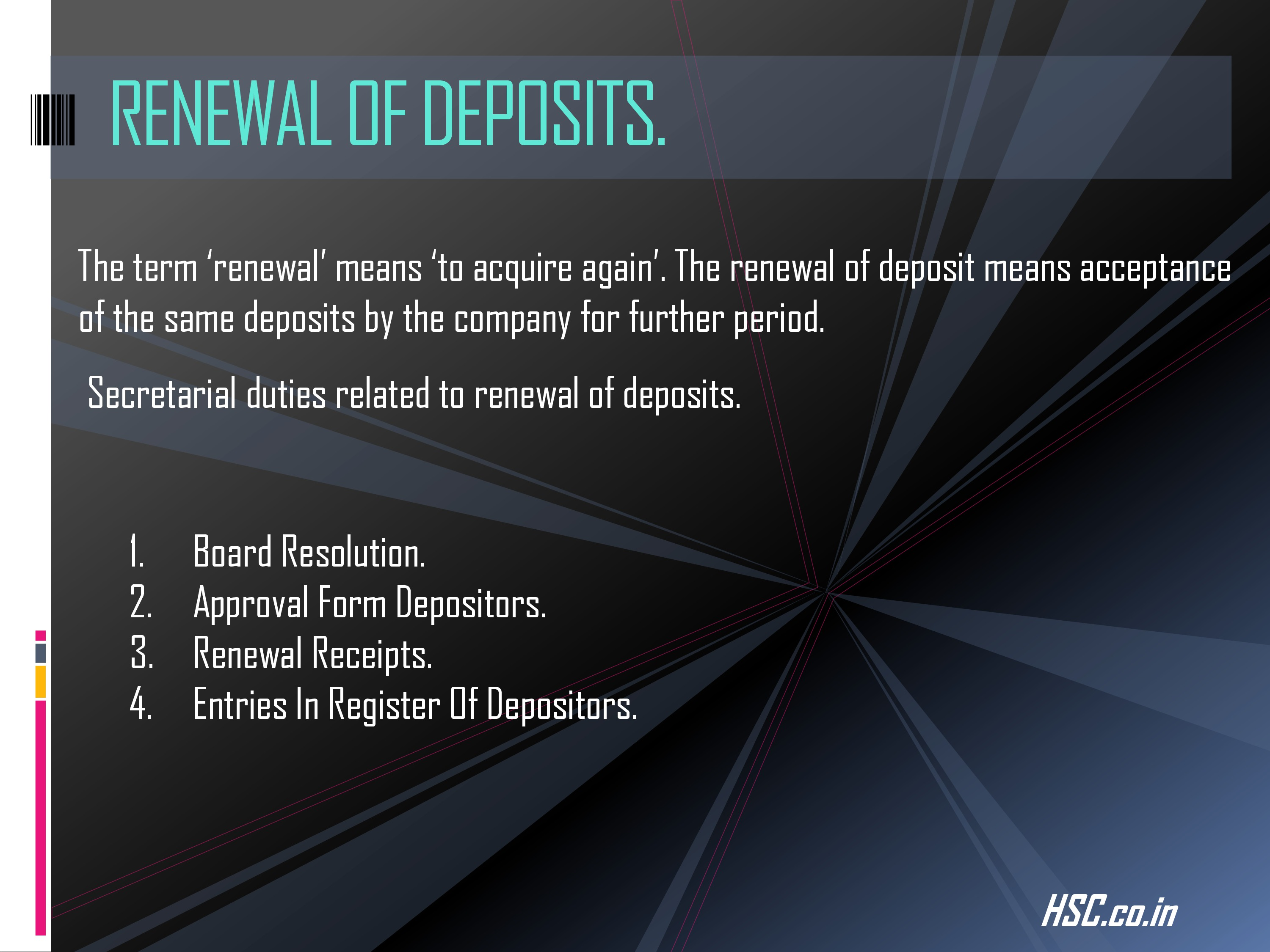 deposits-3 s.p notes for hsc board