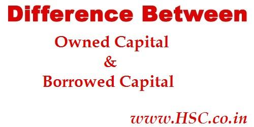 borrowed capital & owned capital