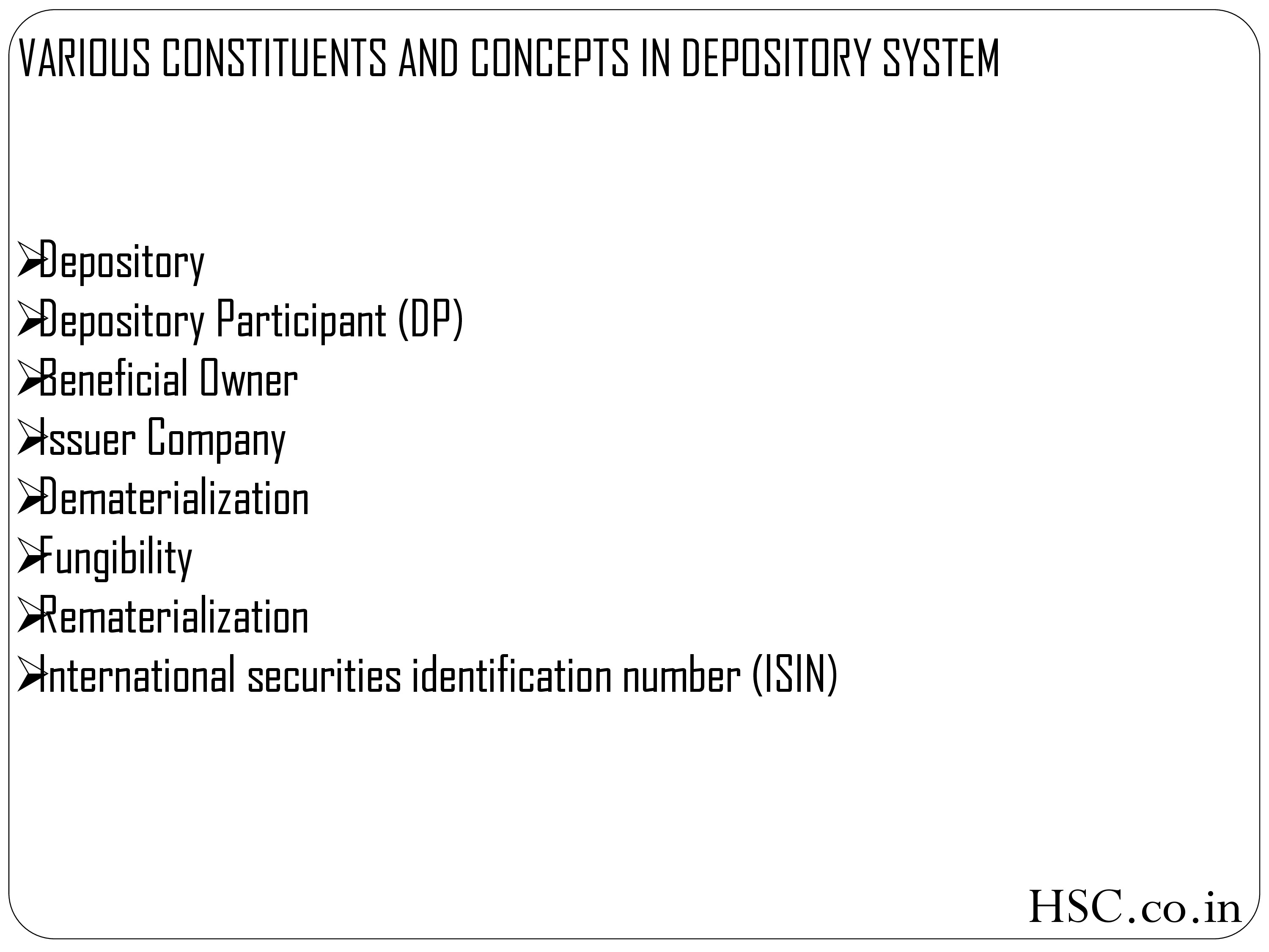 various constituents and concepts-1