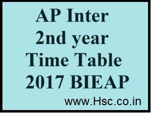 A.P Inter/12th Class Date Sheet 2017