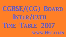 CG 12th Board inter date sheet 2017