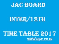JAC 12th/Inter/HSC Board Date Sheet 2017
