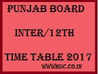 PSEB 12th Exam date sheet 2017