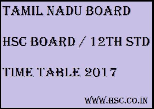 TN HSC Board 12th std