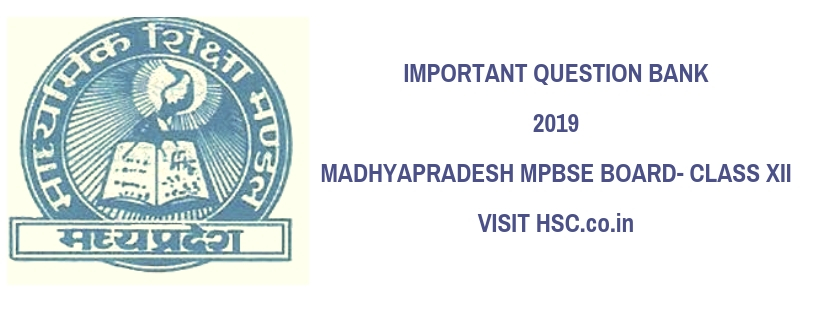 mp board 12th model paper 2019 hindi medium – HSC – Higher